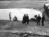 Setting nets to gather carp