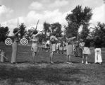 Archery contest at Girl Scout Camp