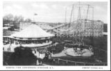 Long Branch Park - Postcard showing rides