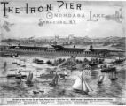 Iron Pier, Onondaga Lake, Syracuse, N.Y.  - Highly imaginative poster from the Resort Era