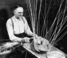 John Wiegand showing how a basket is made, 1 of 2