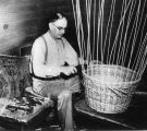 John Wiegand showing how a basket is made, 2 of 2