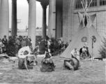 New York State Fair Grounds: American Indian encampment and teepee