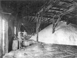 Interior view of unidentified solar storehouse