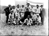 Onondaga Nation: Baseball team with American flag, 2 of 2