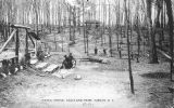 Post Card: Men working in Highland Forest Park