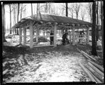Torbert Picnic Shelter, under construction, 2 of 2