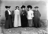 Onondaga Nation: Five women dressed in high fashion