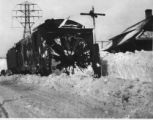 Blades of Rotary Snow Plow, arriving at Woodard Station