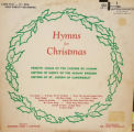 Hymns for Christmas - a view of cover and LP