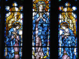 Madonna with angels stained glass windows