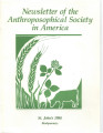 Anthroposophical Society in America Newsletter 1988 St. John's Biodynamics