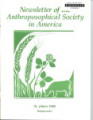 Anthroposophical Society in America Newsletter Tables of Contents Spring 1987 - 2008 No. 2