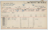 Enlistment Card for Harry McCullen, 15th NY National Guard in 1941