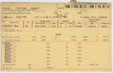 Enlistment Card for William Lenard Allen, 15th NY National Guard in 1940