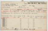 Enlistment Card for Alexander S Copes, 15th NY National Guard in 1943