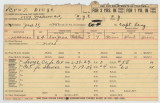 Enlistment Card for Diego Cruz, 15th NY National Guard in 1928