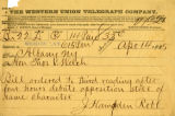 1885-04-14 telegram to Welch from Robb