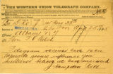 1885-04-25 telegram to T. V. Welch from J. Hampden Robb