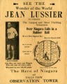 Advertisement for Jean Lussier