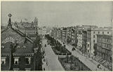 View of Park Avenue from the Park Avenue Hotel, showing the Grand Central Railroad Station at the...