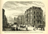 Marble Mansion at the corner of Fifth Avenue and Thirty-fourth Street erected by the late Mr. A.T....