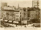 Broadway at Thirty-fourth Street, 1888. This site now occupied by the building of Saks & Co.