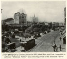 A rare photograph of Greeley Square in 1893, when there wasn't an automobile in sight and Chimmie...