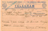 [Telegram] 1907 March 25 [to] Edwin Markham