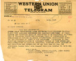 [Telegram] 1917 May 8, New York, NY [to] Mr. Edwin Markham