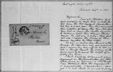 [Letter and envelope from C. B. Sedgwick to Lysander Spooner]