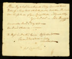 [Bill of sale for a long boat for the use of the Brig Othello]