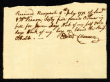 [Receipt of wages for Edward Clannen aboard the Brig Othello]
