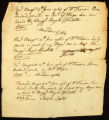 [Receipt for wages paid to Alexander Gillis, Joseph Lester and Edward Strengthfield]