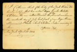 [Birth certificate of two certain female Mulatto children the one called Harriet, the other Souset]