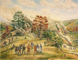 Burning of Coreorgonel by Colonel Dearborn, September 24, 1779