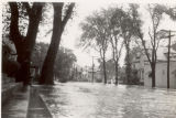 Flood waters raging through a residential neighborhood [1946]