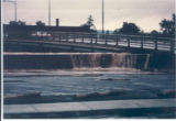 Flood waters over the dike Lake & Water Streets at 5:30am [1972]