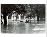Flood waters at 707 Fern Dell Drive [1972]