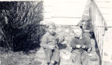Photograph of Eric, Marc, and Ina Smith.  Children of Craig Smith