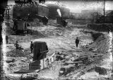 Excavation for the new subway,1921-1922
