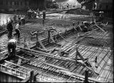 Getting ready to pave the Oak Street Bridge, 1922