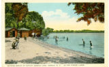 Bathing Beach at Outlet, Seneca Lake, Geneva, N.Y., in the Finger Lakes