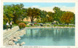 Bathing Beach at Outlet, Seneca Lake, Geneva, N.Y.