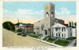 First Methodist Church, showing Masonic Building and Woman's Club, Geneva, N.Y.  in the Finger...