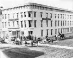 American Hotel located at the southwest corner of Exchange Street and Castle Street; later...
