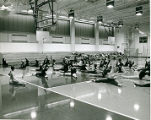 [Dance Class in the Recreation Center Gymnasium]