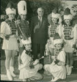[Drum Majorettes with Governor Harriman]