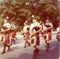 [Bagpipers]