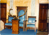 [Elks Club Interior With Antlers]